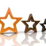 Three orange stars 1 — Stock Photo #1213118