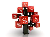 Red credit tree — Stock Photo