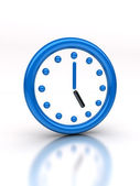 Abstract blue clock — Stock Photo