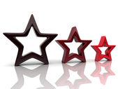 Three red stars — Stock Photo