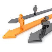 Competencia con tres flechas — Foto de Stock