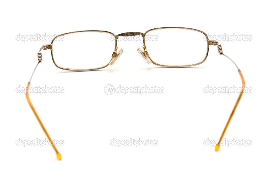 Photo of spectacles wih thin rim isolated over white — Stock Photo #1246911
