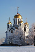 Russian orthodoxal Cathedral — Stock Photo