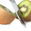 Stock Photo: Kiwi and knife