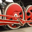 Stock Photo: Big old locomotive wheels