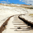 Old rusty railway — Stock Photo