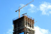 Construction of skyscrapers. — Stock Photo