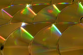 Background from CD disks — Stock Photo