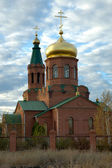 Orthodox temple in village Svetly Yar — Stock Photo