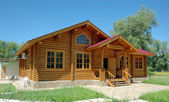 The big wooden house. — Stock Photo