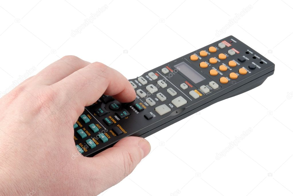 Remote control panel on a white background — Stock Photo #1237859