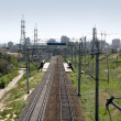 Russia. Volgograd. Tracks. - Stock Photo