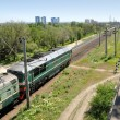 Russia. Volgograd. A diesel locomotive - Stock Photo