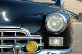 The right headlight of old automobile — Stock Photo