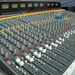 Sound mixing console — Stockfoto