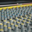 Stock Photo: Sound mixing console
