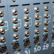 Studio xrl cables patch panel. — Stock Photo
