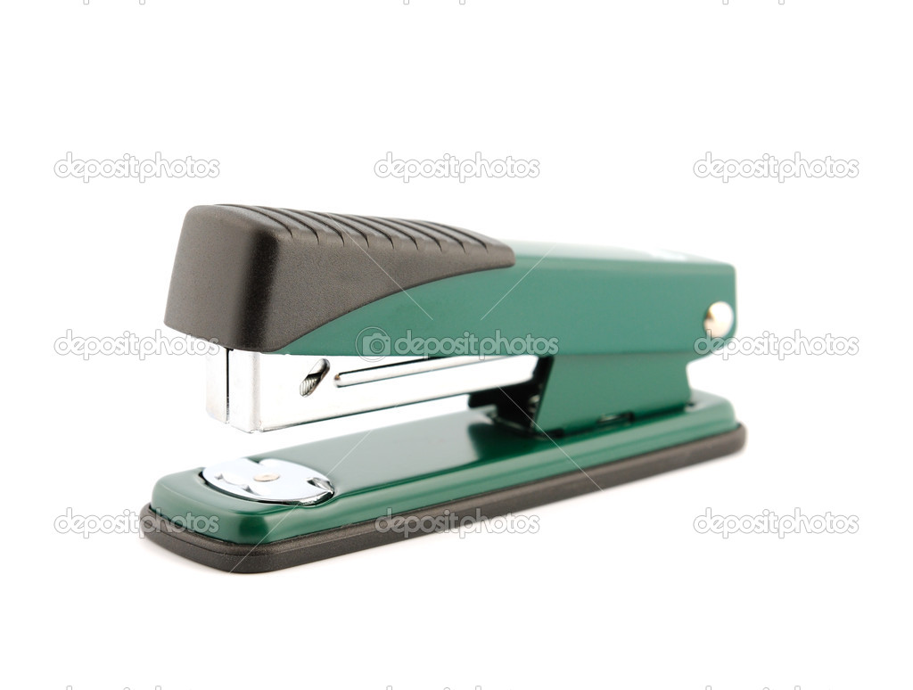 Metallic office stapler isolated on white background — Stock Photo #1854428