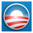Foto Stock: Democratic campaign button