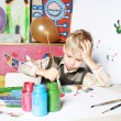 Stock Photo: Young artist.
