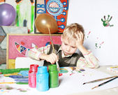 The young artist. — Stock Photo