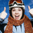 Royalty-Free Stock Photo: The cheerful mountain skier.