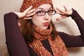 Cap, scarf and glasses. — Stock Photo