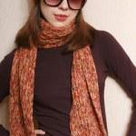 キャップ、スカーフとメガネ — ストック写真