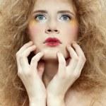 Girl with shock hair-do — Stock Photo #1204982
