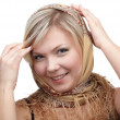 Blonde girl in kerchief — Stock Photo #1214855