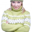 Girl in warm clothes — Stock Photo