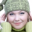 Girl in warm clothes — Stock Photo #1214936