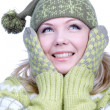 Girl in warm clothes - Stock Photo