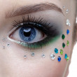 Bodyart of eye zone — Stock Photo #1215584