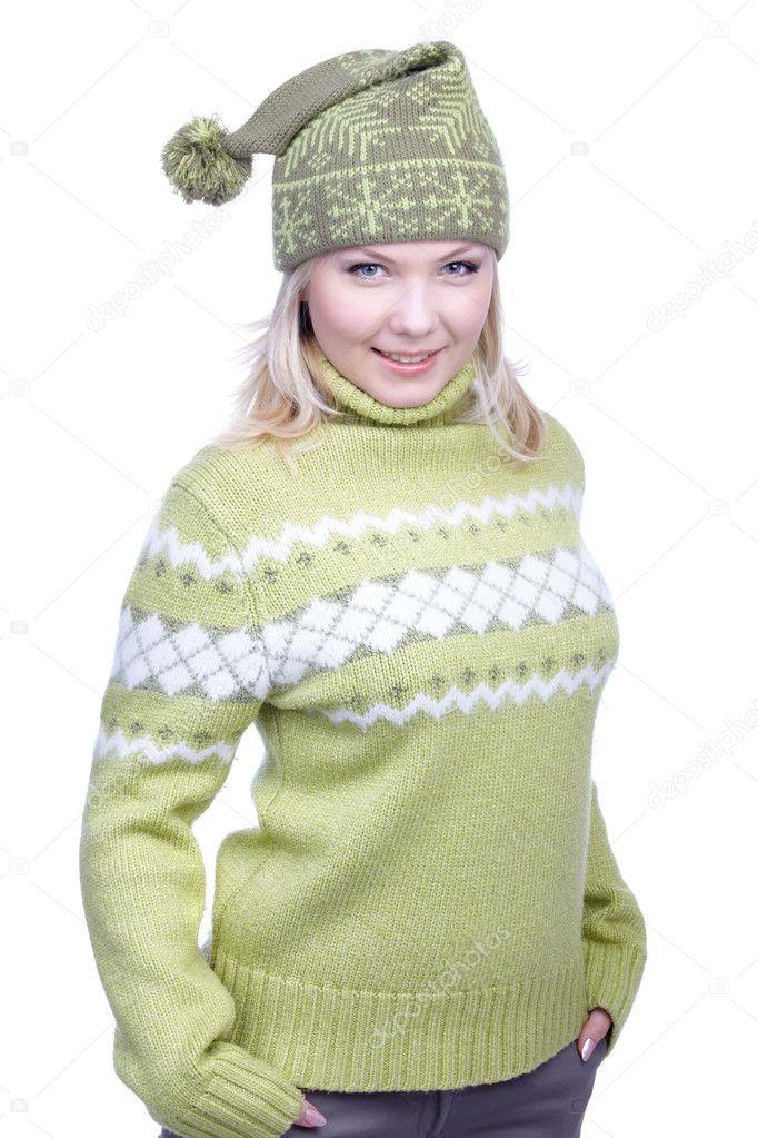 Секретарша в зеленом свитере 14 фотография