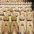 Stone monks statues — 图库照片