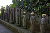 Jizo statuettes — Stock Photo