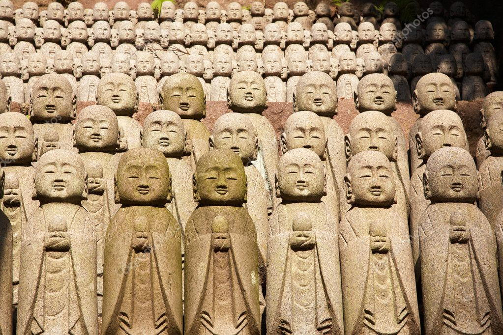 1001 stone monks statues from Hasedera in Kamakura, Japan  Stock Photo #1236847