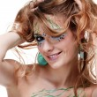 Beautiful girl with bodyart — Stock Photo
