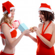 Girls with presents — Stock Photo #1294206