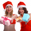 Girls with presents — Stock Photo #1294219