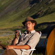 Tourist camping — Stock Photo #1301608