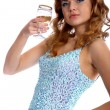 Royalty-Free Stock Photo: Model with champagne