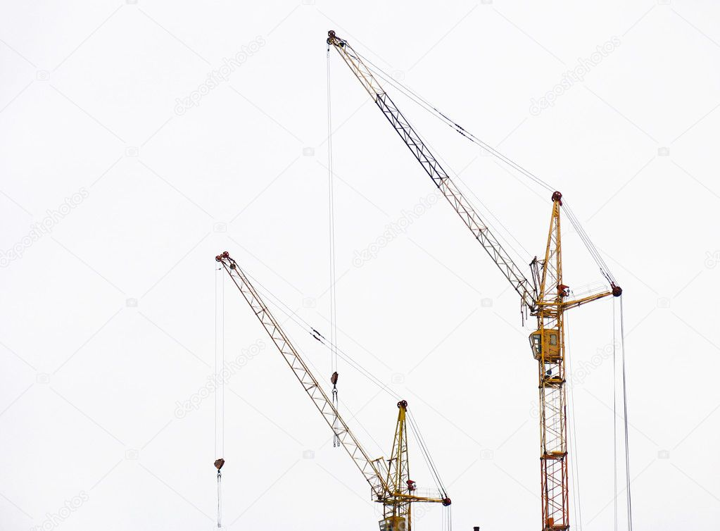 Lifting cranes — Stock Photo #1300088