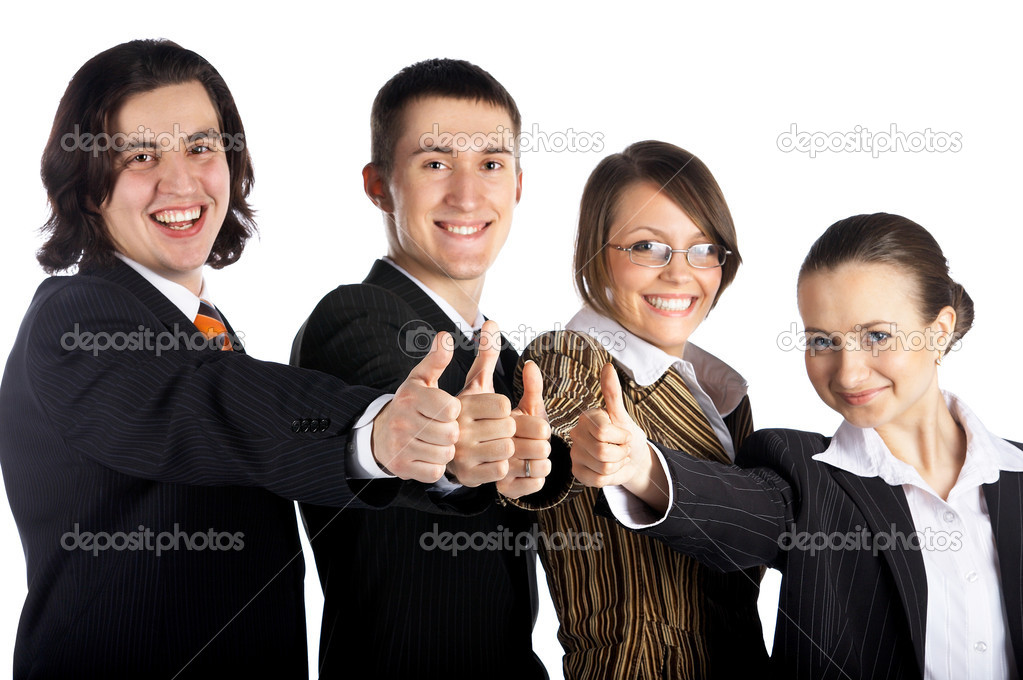 Business team of four men and women  Stock Photo #1309575