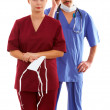 Stock Photo: Doctor and nurse