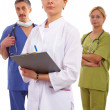 Two doctors and nurse - Stockfoto