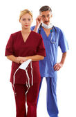 Doctor and nurse — Stockfoto