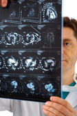 Doctor with tomogram — Stock Photo