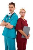 Médecin et infirmière — Photo